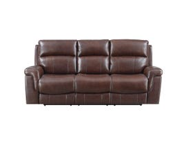 High Society Daytona Series Leather Match Power Recliner Sofa in Chocolate UDR12312305PF