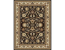 Midas 5X8 Area Rug in Black/Beige 1170-B0111