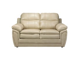 A-Class Leather Gel Loveseat in Cream 7771