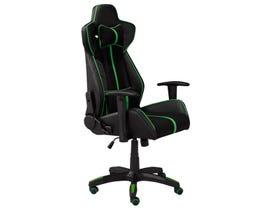 Brassex Aspen Gaming Chair in Black/Green 1183-GNN