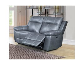 Amalfi Home Furniture Leather Reclining Loveseat in Starry Grey
