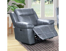 Amalfi Home Furniture Leather Reclining Chair in Starry Grey