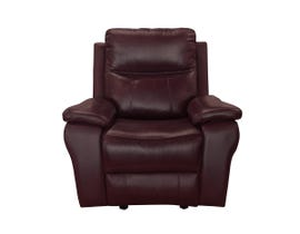 Amalfi Home Furniture Leather Motion Recliner in Burgandy R8699