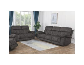 Dillon Series 2pc Fabric Sofa Set in Dark Brown