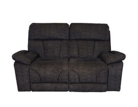 Dillon Series Fabric Loveseat in Dark Brown