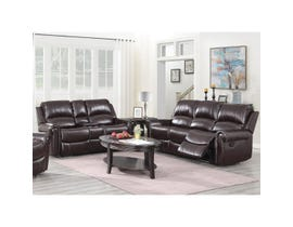 High Society Vanetta Series 2Pc Manual Reclining Sofa Set in Espresso UJNxx