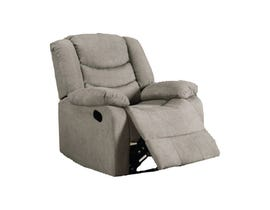 L-style Fabric Power Recliner in Steel 12943
