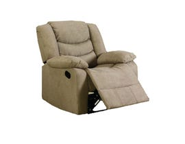 L-style Fabric Recliner in Taupe 12943