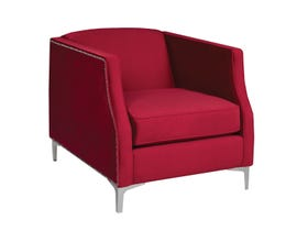 Sofa By Fancy Fabric Tub Chair in Franklin Red 2047