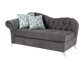 Sofa by Fancy Fabric Accent Lounger in Royal Charcoal 2056