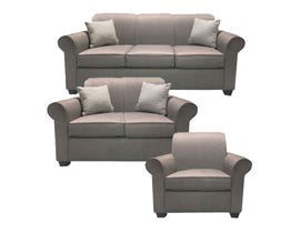 A-Class Fabric 3Pc Sofa Set in Winston Timber 1000