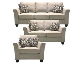 A&C Furniture 3pc Fabric Sofa Set in 33 2550