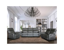 Richmond Series 3pc Motion Reclining leather Sofa Set in Slate 3294