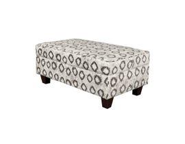 Minhas Furniture Accent Ottoman in Grey/Pattern 6085