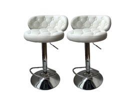 Mazin Furniture Bar Stool in White ST-8286 (1 piece)