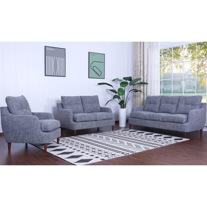 Homelegance Furniture 3 Piece Fabric Living Room Set In Grey 1219