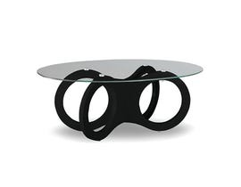 International Furniture Tempered Glass Coffee Table in Black IF-2016B
