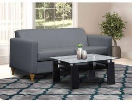 Edgewood Furniture Canadian-Made Fabric Sofa in Grey 74