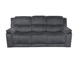 Kwality Suede Manual Reclining Sofa in Grey 6129