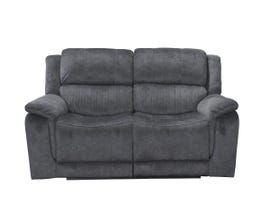 Kwality Suede Manual Reclining Loveseat in Grey 6129