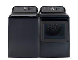 GE Laundry Pair 6.3 cu. ft. Top Load Washer & 7.4 cu. ft. Electric Dryer in Diamond Grey GTW680BMRDGGTD65EBMRDG
