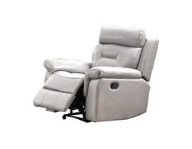 Marvel Series Leather Recliner in Ivory 7123