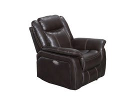 Oscar Leather Air Power Reclining Chair in Chocolate Brown 9069