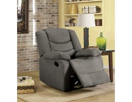 L-style Fabric Recliner in Cosmic Dark Grey 12943