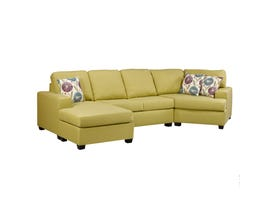 A&C Furniture fabric sectional in mojito yellow 1250
