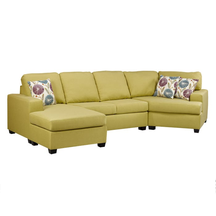 A-Class fabric sectional in mojito yellow 1250