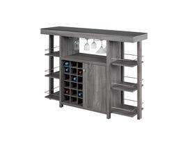 Brassex Black Glass Top Bar Dark Grey 12532-GR