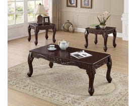 International Furniture 3pc Coffee Table Set in Espresso Brown IF-2090