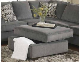 Signature Design by Ashley Loric Series Ottoman With Storage in smoke grey 1270011