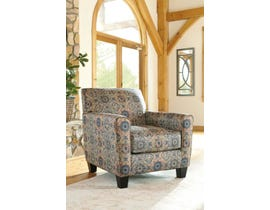 Signature Design by Ashley Belcampo Collection Fabric Accent Chair in Rust 13405