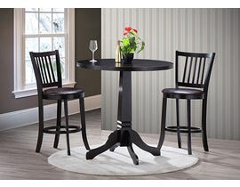 Chateau Imports 3-Piece Wood Dining Set in Espresso 1354