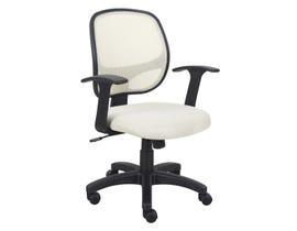 Brassex Eliza Office Chair in Cream 1431-CR
