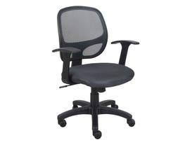 Brassex Eliza Office Chair in Grey 1431-GR