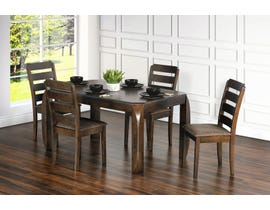 Primo International Kara Collection 5-Piece Dining Set in Brown Oak 1435