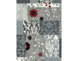 Midas 5X8 Area Rug in Grey/ D. Grey WS322