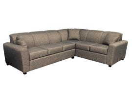 Armani Fabric sectional in Armani Java 1535