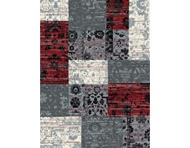 Midas 5X8 Area Rug in Red / Grey 1569-WS355