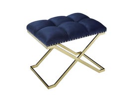 K Elite Navy Suede with Gold Base Bench 16122-NAVY