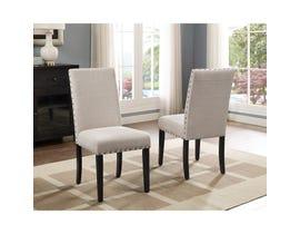 Brassex Avery Side Chair Beige (Set of 2) 162-22-BEI