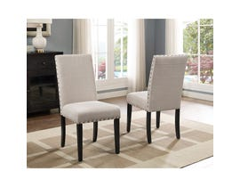 Brassex Avery Side Chair Beige (Set of 2) 162-22-BEI