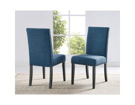 Brassex Avery Side Chair Blue (Set of 2) 162-22-BL