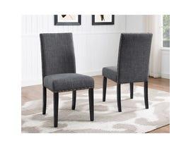 Brassex Avery Side Chair Grey (Set of 2) 162-22-GR