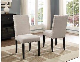 Brassex Avery Series Fabric Side Chair in Beige 162-22