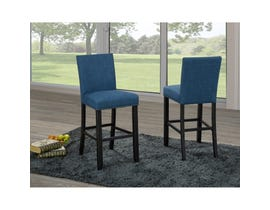 Brassex Avery 24-inch Counter Stool Blue 162-24-BLUE (set of 2)