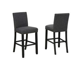 "Brassex Indira 29"" Bar Stool with Nail-Head Trim Set of 2 Grey 162-29 GR"