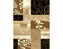 Midas 5X8 Area Rug in Light Brown/ Black 1653-B0155